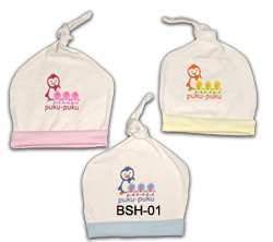 Model: Topi Puku-Puku - Terbuat dari katun double - Untuk bayi 0-3 bulan - Price: Rp 8,450/pc